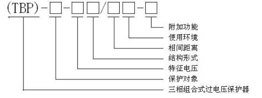 三相组合式过电压保护器组合式避雷器